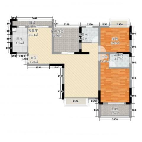 金域城邦2室1厅2卫1厨32113.00㎡户型图