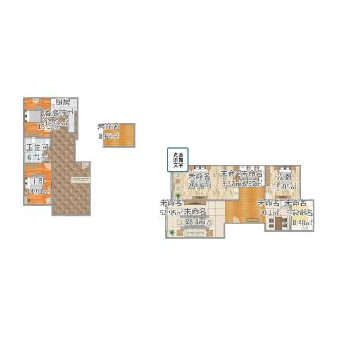 宝地・曼哈顿3室1厅1卫1厨268.00㎡户型图