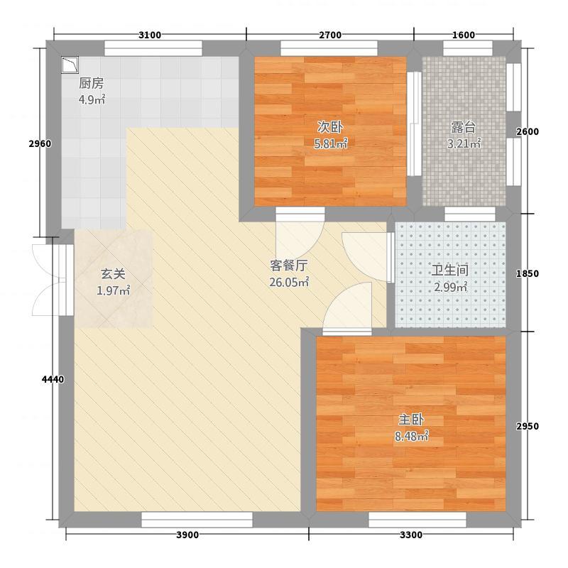 苏马荡・依云�际5.20㎡A5户型