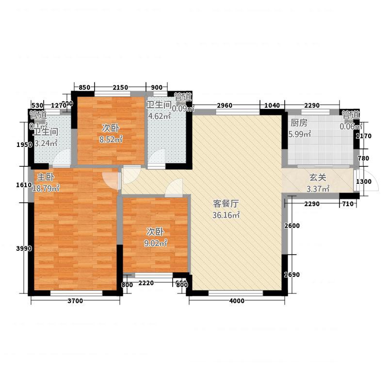 中海城232115.20㎡C2户型3室2厅2卫1厨