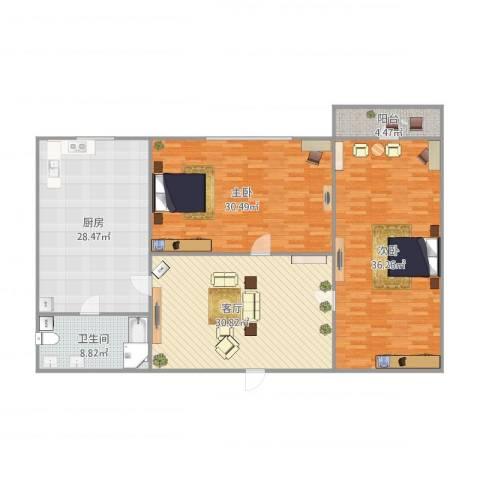 梵蒂冈的身高辅导书2室1厅1卫1厨183.00㎡户型图