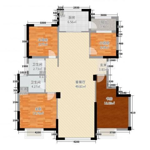 迁安碧桂园2室1厅2卫1厨64214.00㎡户型图