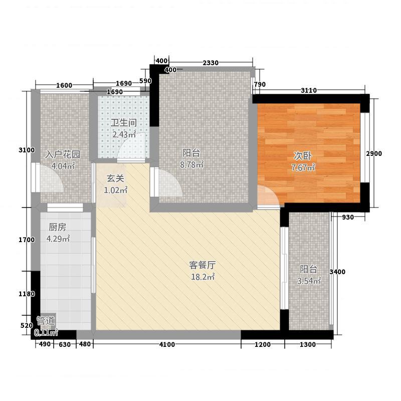 龙光阳光海岸26275.63㎡26#27#28#228(-转曲正稿)-户型2室2厅1卫1厨