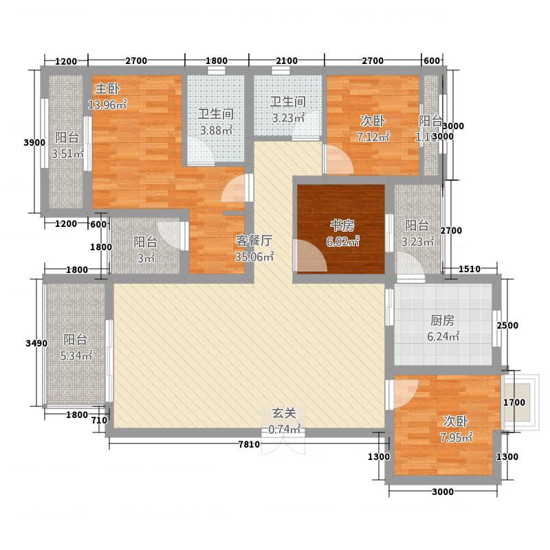 欧香小镇42118.85㎡D户型4室2厅2卫1厨