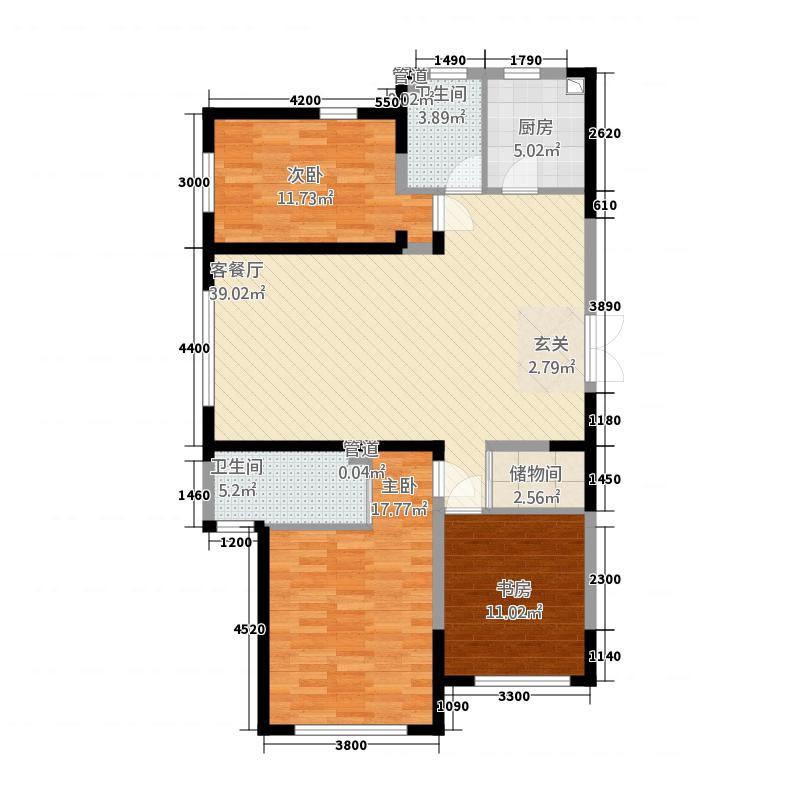 蓝色港湾15148.20㎡1号楼D-5户型3室2厅2卫