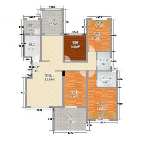 江南春城・四期4室1厅2卫1厨5143.00㎡户型图