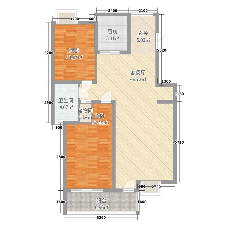 国际公寓二区113.20㎡C户型