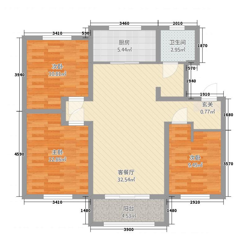 卡诺岛4682113.00㎡A4A6A8A20边户户型3室2厅1卫1厨