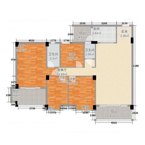 丽景华庭4室1厅2卫1厨152.81㎡户型图