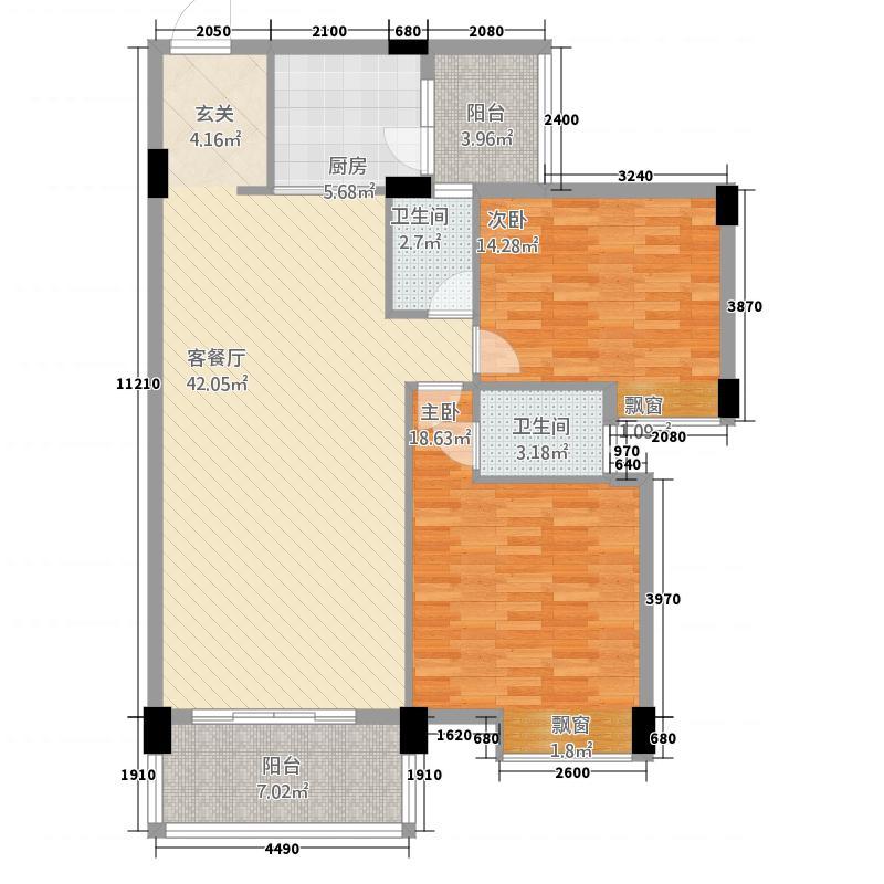 丽景华庭218.31㎡2户型