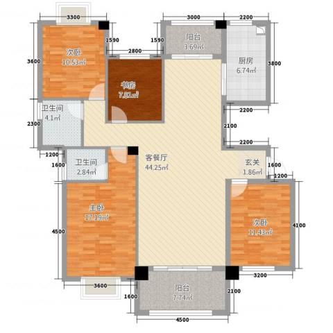 阳光名邸4室1厅2卫1厨4147.00㎡户型图