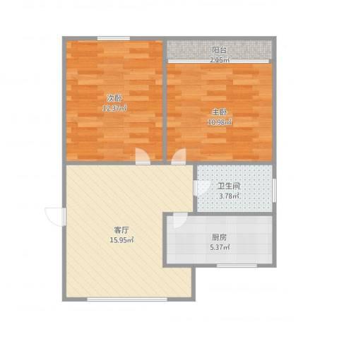 惠景城2室1厅1卫1厨69.00㎡户型图