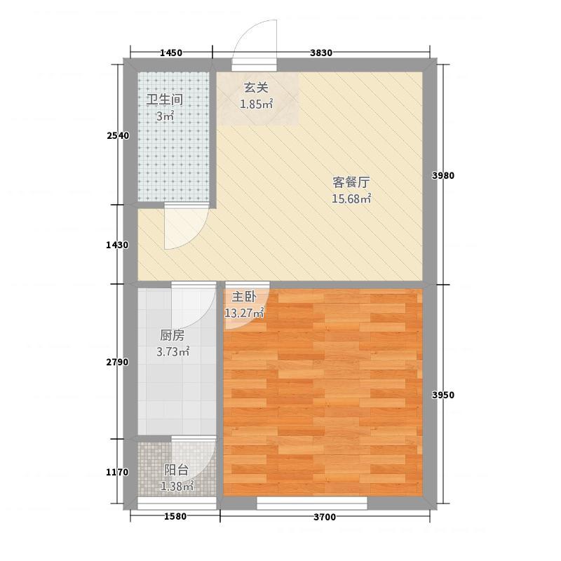 锦绣馨园114.32㎡B户型1室1厅1卫1厨