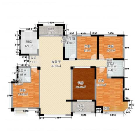 迁安碧桂园5室1厅3卫1厨64218.00㎡户型图