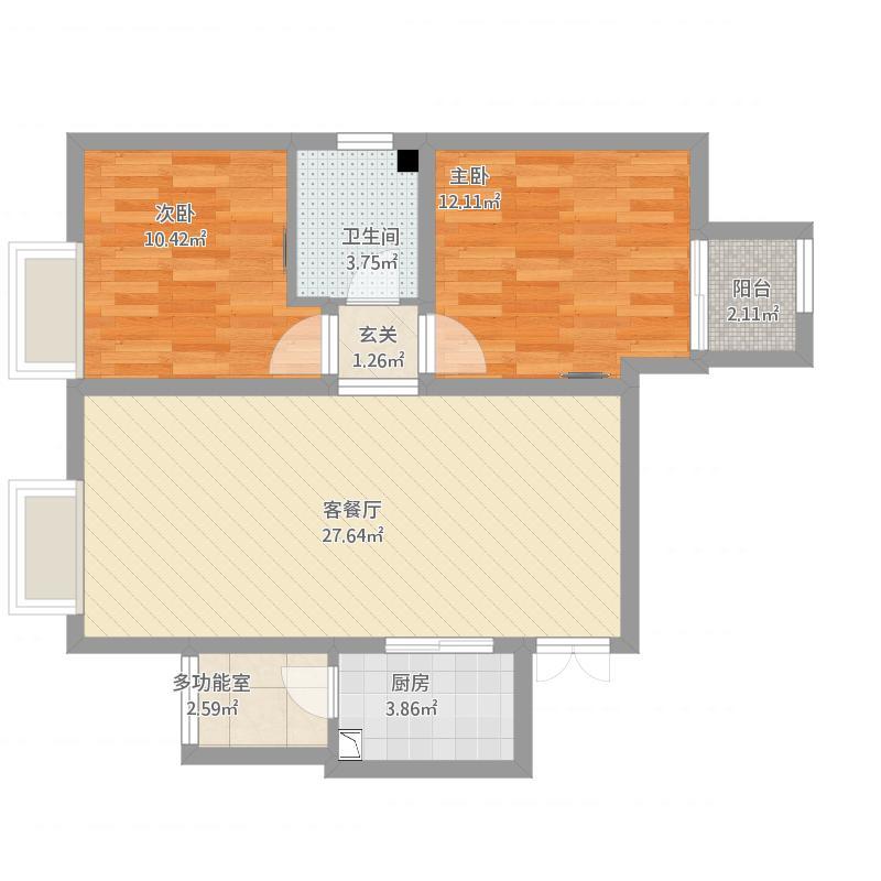 郑州正弘B1-2-89m2-方案1