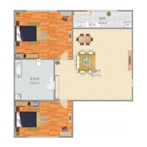 亲亲家园2室1厅1卫1厨152.00㎡户型图