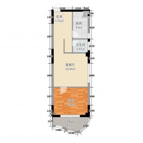 城市之光1室1厅1卫1厨217.00㎡户型图