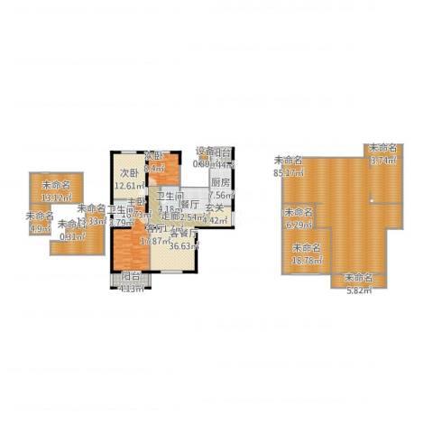 花园五座3室1厅2卫1厨339.00㎡户型图