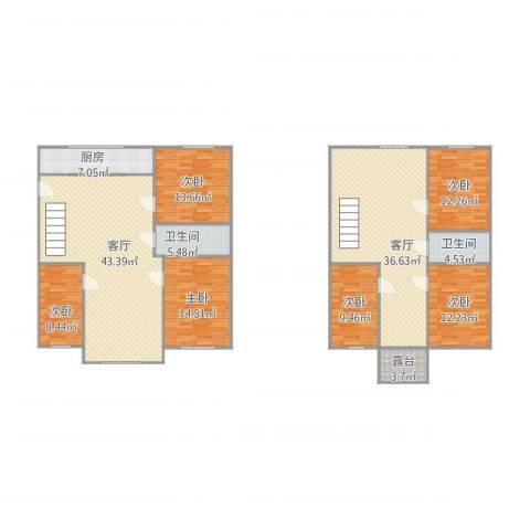 文萃轩小区6室2厅2卫1厨228.00㎡户型图
