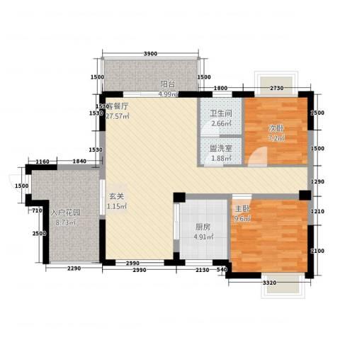 铜锣湾2室2厅1卫1厨12286.00㎡户型图