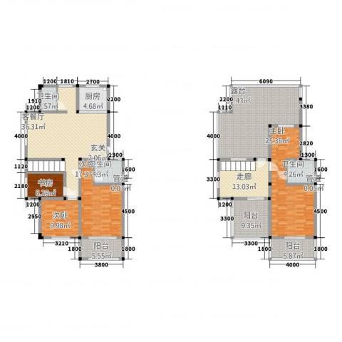 东方罗马4室1厅3卫1厨253.00㎡户型图