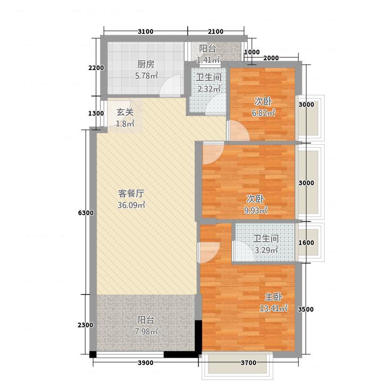 银山公馆2.20㎡2户型