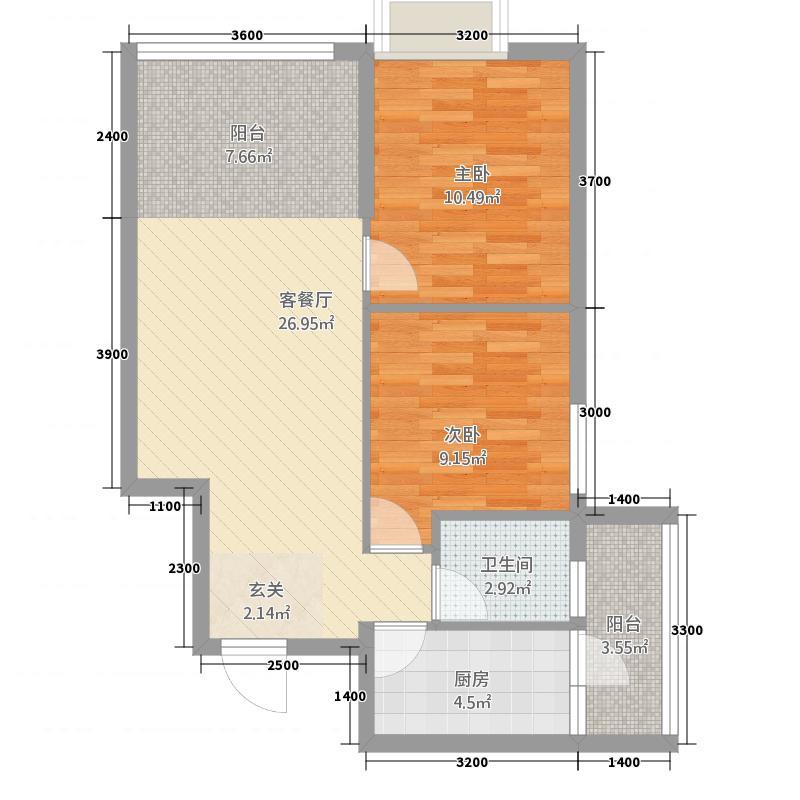银山公馆3.20㎡3户型