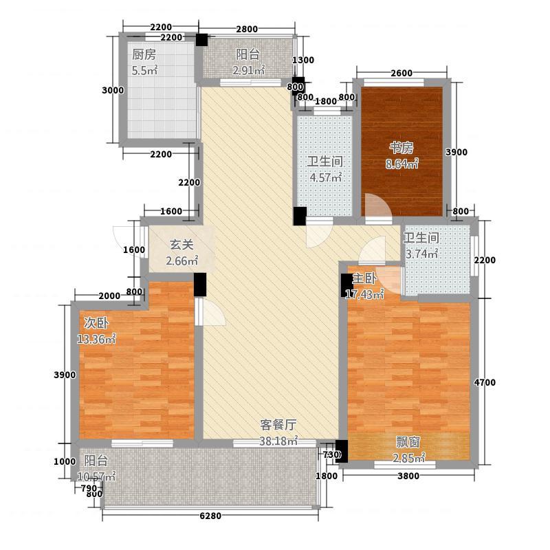 锦绣江南36126.20㎡3#、6#、9#小高层G户型3室2厅2卫1厨