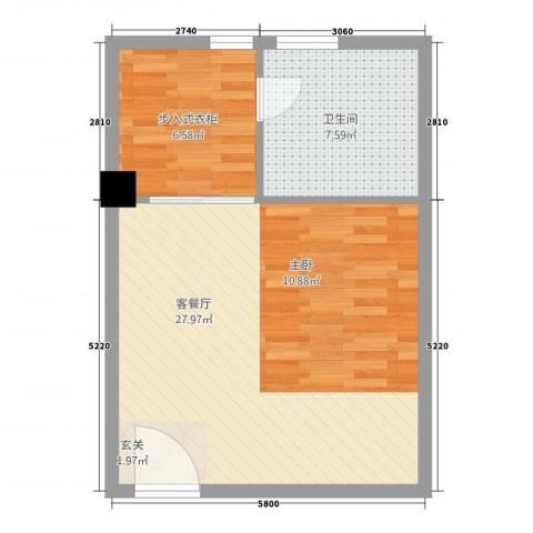 港昌新苏格兰1厅1卫0厨658.00㎡户型图