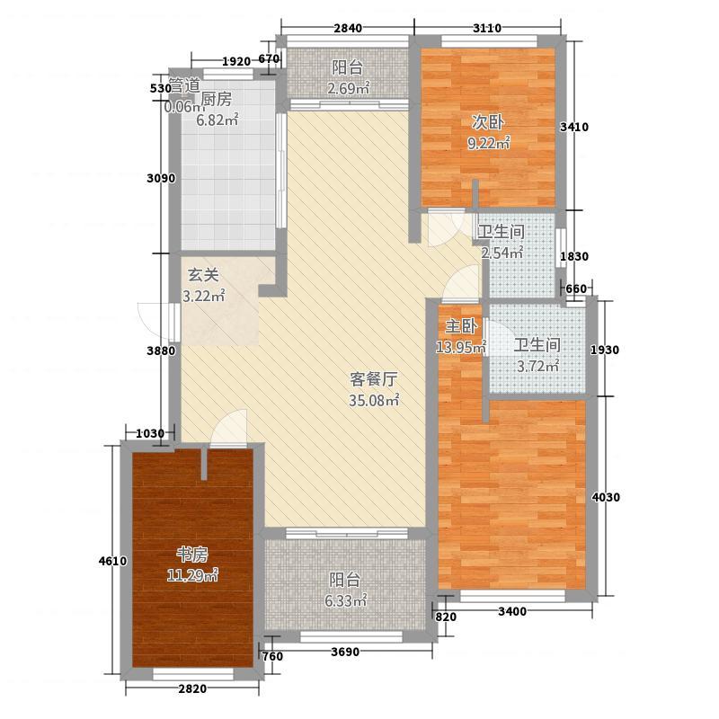 国际公馆131.00㎡户型