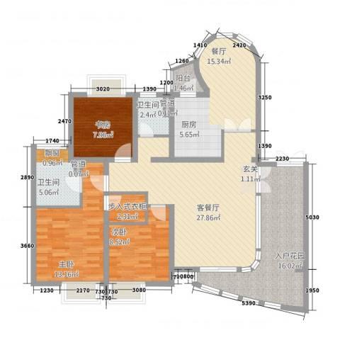 巴比伦花园3室2厅2卫0厨146.00㎡户型图