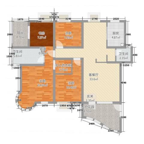 巴比伦花园3室1厅2卫1厨154.00㎡户型图
