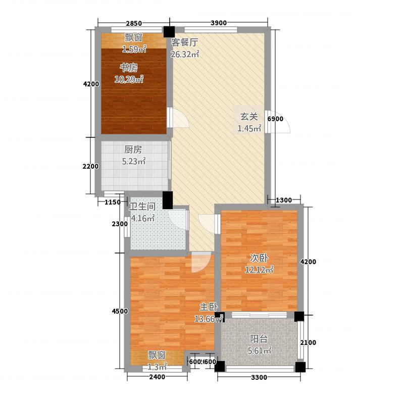 锦绣江南571.20㎡5#、7#小高层C户型3室2厅1卫1厨