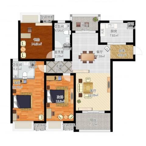 海陵首府3室1厅2卫1厨179.00㎡户型图