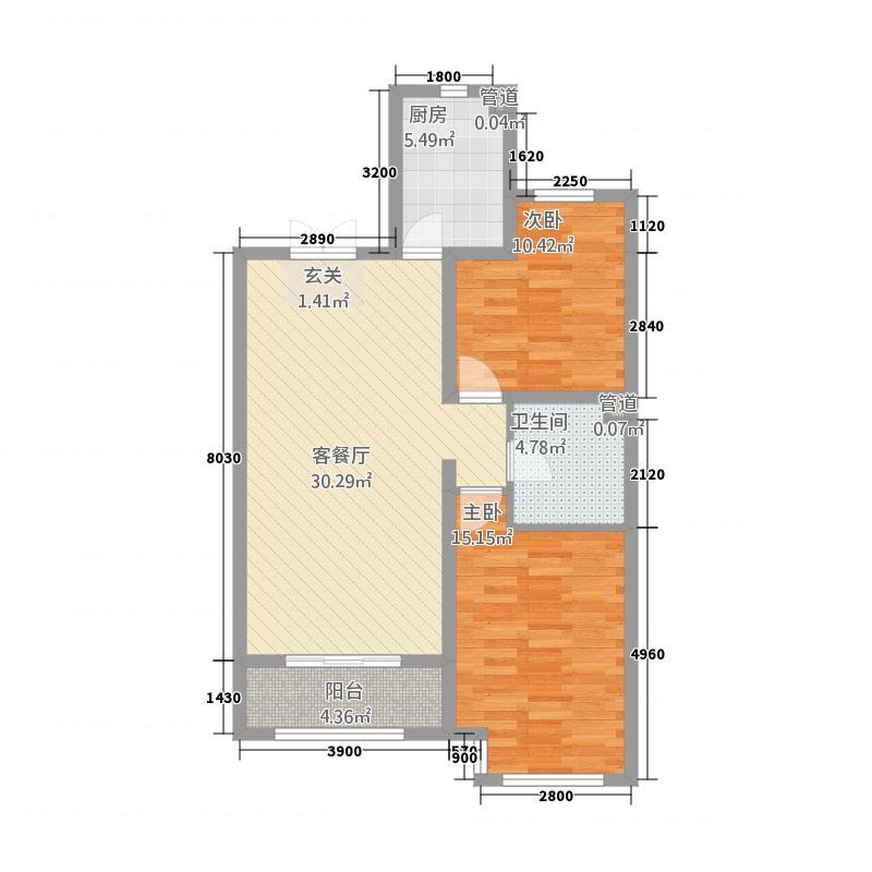 泽信・加州公馆8.80㎡1#户型