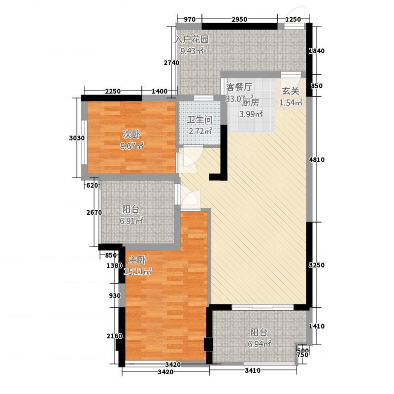 三顺世纪大都会348.17㎡3栋4栋7-28层B户型3室2厅2卫1厨