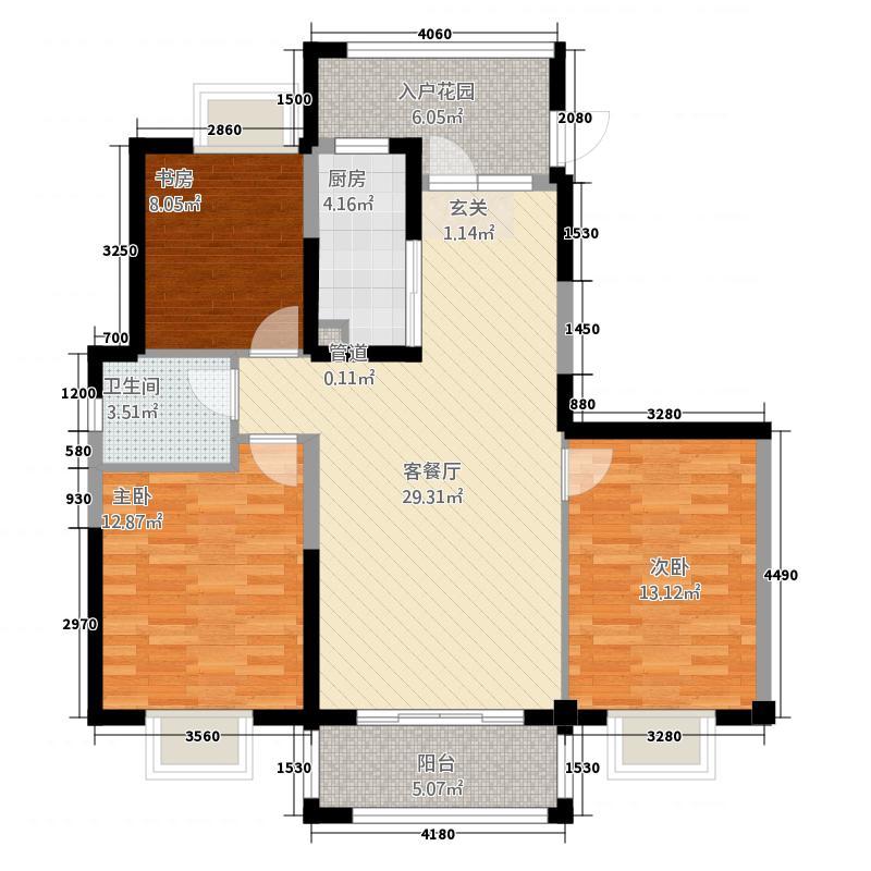 锦绣兰城314.20㎡户型3室2厅1卫1厨