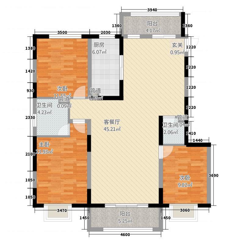 塞维利亚832135.19㎡户型3室2厅2卫1厨