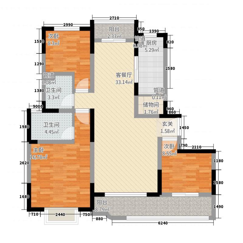 森兰公寓5136.20㎡5号楼I户型