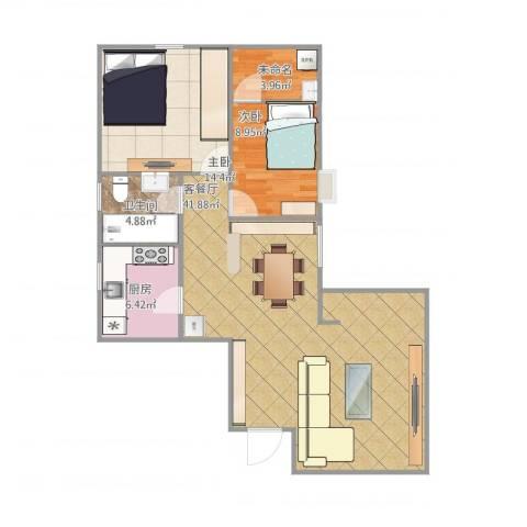 穗园小区2室1厅1卫1厨108.00㎡户型图