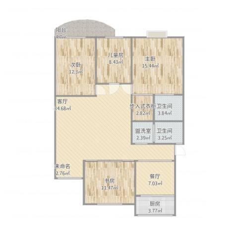 五凤山庄4室3厅2卫1厨142.00㎡户型图