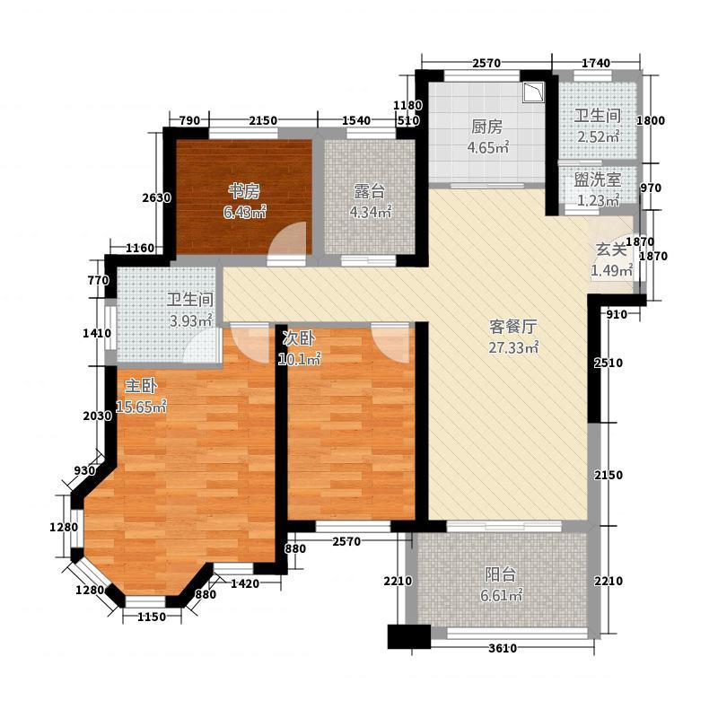 华鑫天域居312.20㎡A户型3室2厅2卫1厨