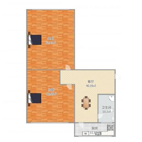 西山巷2室1厅1卫1厨229.00㎡户型图