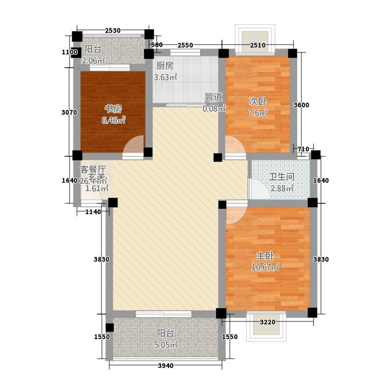 格兰御景园34.74㎡H户型3室2厅1卫