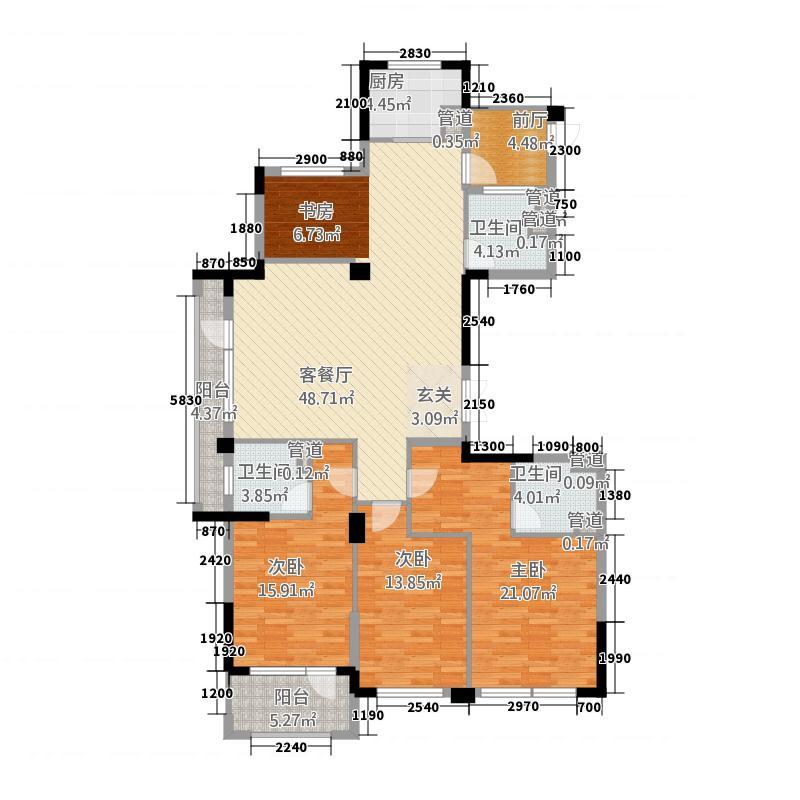 卡森・卫星城王庭世家185.20㎡卡森・卫星城王庭世家高层K户型3室2厅3卫1厨