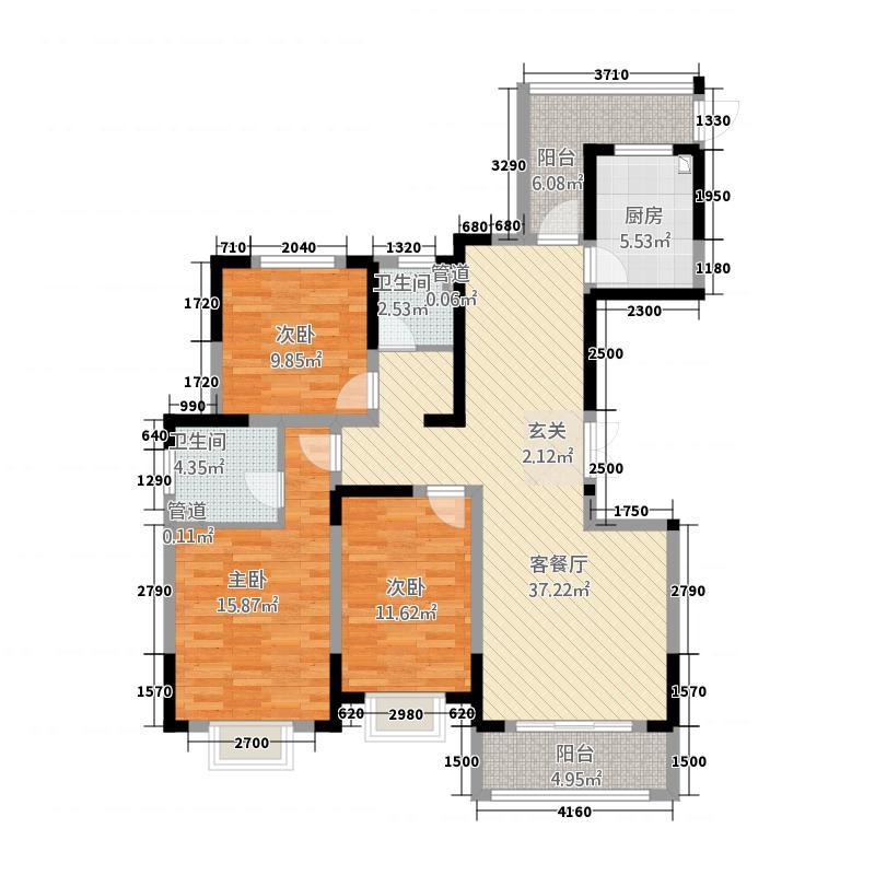 泰兴富皇公寓1423.20㎡14-23-11-16-406_副本户型