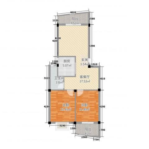 宏源大景城2室1厅1卫1厨252283.00㎡户型图