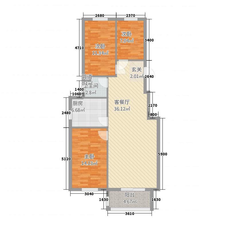 波尔多小镇(泰宁佳苑)115.20㎡波尔多小镇户型3室2厅1卫1厨