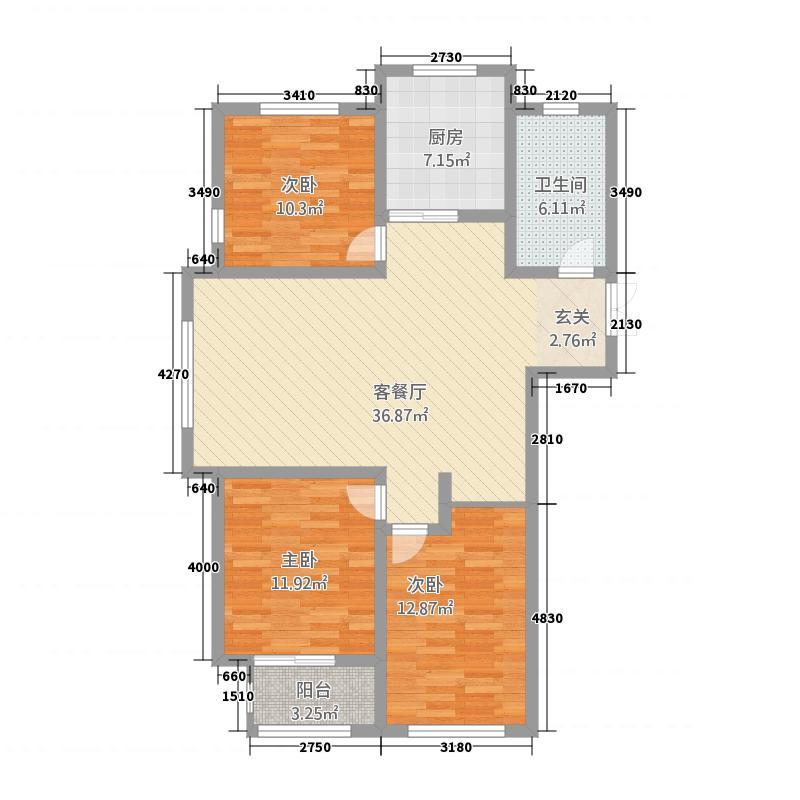 汶水花园632126.19㎡6户型3室2厅1卫1厨