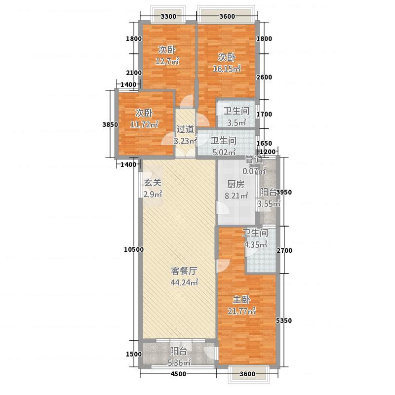 长江实业地产�湖园洋房1-3、7-9幢A2号房户型